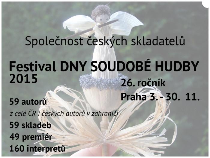 4.týden festivalu Dny soudobé hudby: světové premiéry skladeb Milana Jíry, Jaroslava Krčka aViléma Zelenky