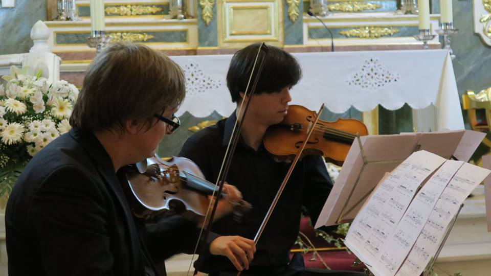 Quintanar de la Orden, Spain. Premieres of string quartets by Petr Bakla and Jakub Rataj