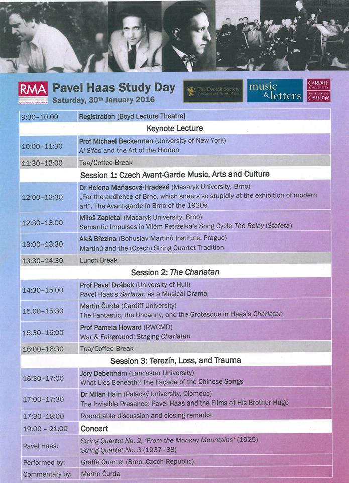 Cardiff: Pavel Haas Study Day